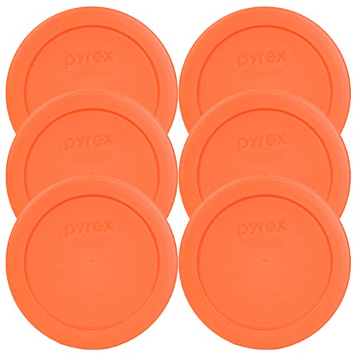 Pyrex 7200-PC Round 2 Cup Storage Lid for Glass Bowls (6, Orange) (Glass Container Round compare prices)