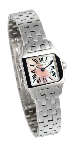 Cartier Women's W25075Z5 Santos Demoiselle Pink Mother of Pearl Watch