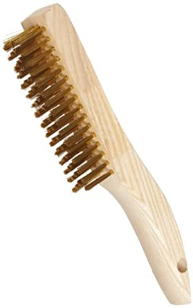 Weiler Plater's Wire Scratch Brush, Brass, Straight Wire