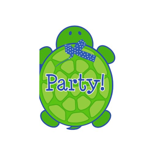 Creative Converting Mr. Turtle Birthday Party Invitations, 8-Count