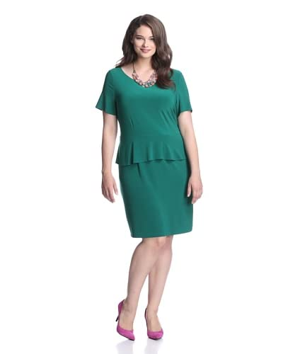 Taylor Women's Peplum Dress  - Everglade