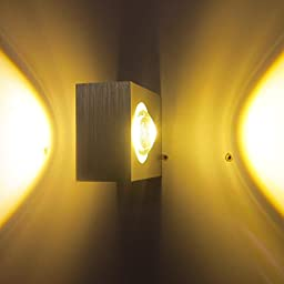 RedSonics(TM) 6W AC85-265V LED Wall Sconce Light Lamp Hall Porch Walkway Living Room Light Bedroom Warm White Aluminum LD534