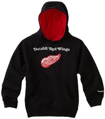 NHL Toddler Detroit Red Wings Sportsman Pullover Fleece Hoodie - R54C4Pee (Black, 2T)