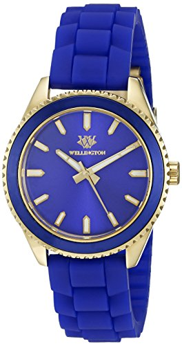 Wellington Karamea Women's Quartz Watch with Blue Dial Analogue Display and Blue Silicone Strap WN508-233