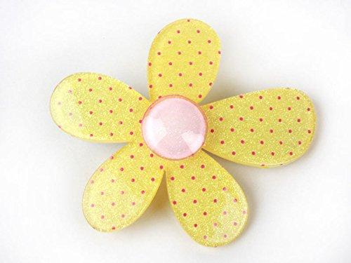 子供 ヘアピン フラワー ひまわりアクリル製 黄色