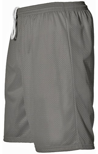 94cffacdce9d Alleson 567P Adult Extreme Mesh Athletic Shorts SI - SILVER A2XL ...