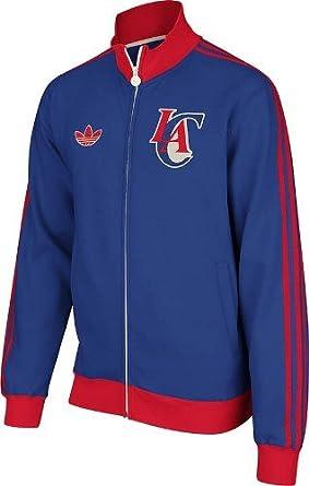 Los Angeles Clippers adidas Springfield Originals Fleece Track Jacket - Blue by adidas