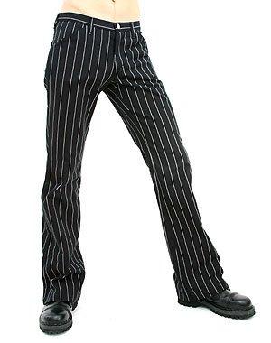 Aderlass Jeans Pin Stripe Black-White (Größe 40)