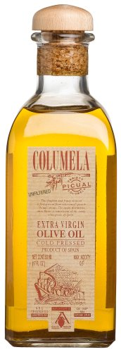 Columela Extra Virgin Olive Oil, Cold Pressed, Picual, 17-Ounce Glass Bottles (Pack of 3)