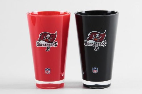 Tampa Bay Buccaneers Official NFL 20 fl. oz. Tumbler Cup Set by Duck House