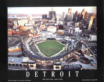Comerica Park Poster