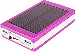 CallOne Turbo Solar Charging Power Bank 13000 mAh with LED Torch Light (Pink Color)
