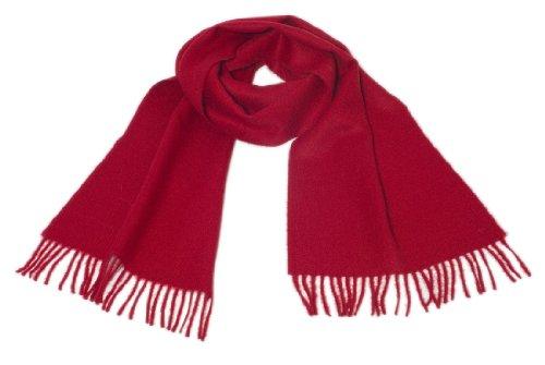 Inwool Alpaka Schal Stola Damenschal / Herrenschal, 100% Babyalpaka Wolle Royal Rot