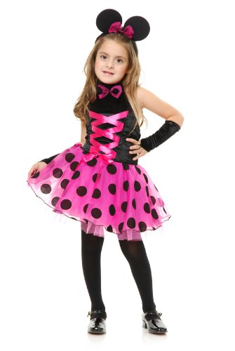 Charades Little Miss Mouse Minnie Polka Dot Sexy Dress Up Halloween Teen Girls Costume
