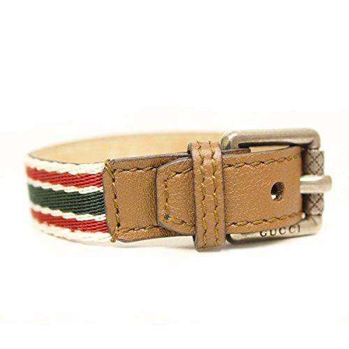 Gucci tradizionale Web in pelle marrone Bracciale Unisex fibbia 310560