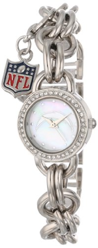 Game Time Women's NFL-CHM-SD Charm NFL Series San Diego Chargers 3-Hand Analog Watch at Amazon.com