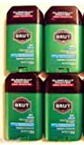 Brut Mens 24 hr Anti-Perspirant/Deodorant Solid Original Scent-4 Pack