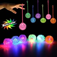MultiColor LED Spike YoYo Balls 12 Pack