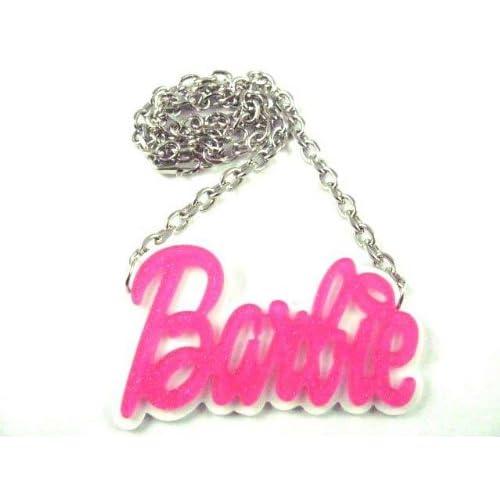 NEW NICKI MINAJ BARBIE Pink Glittere Pendant W/Chain M Pink