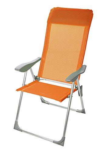 Klappsessel-LD41-Campingstuhl-Klappstuhl-Gartensessel-Campingsessel-5-fach-verstellbar-orange