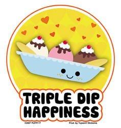 Sweet Banana Split Icecream Sticker - Buy Sweet Banana Split Icecream Sticker - Purchase Sweet Banana Split Icecream Sticker (cooolstuff4u, Toys & Games,Categories,Arts & Crafts,Stamps & Stickers)