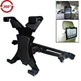"BESTEK headrest mount car seat back holder with 360 degree adjustable rotating travel kit for iPad, samsung galaxy,Motorola xoom,7""-10.1"" tablets BTTH 110"