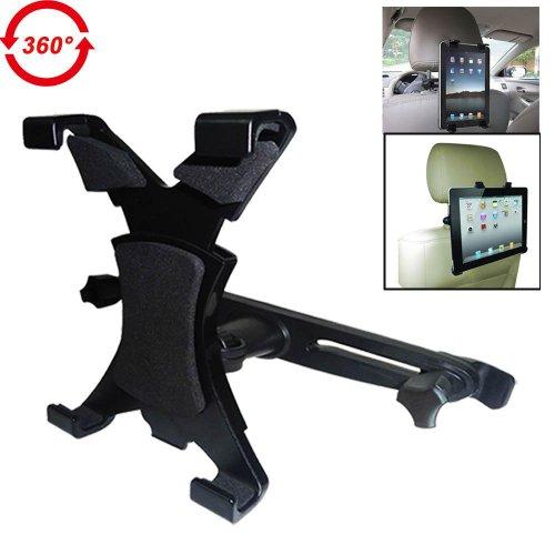 "Bestek Headrest Mount Car Seat Back Holder With 360 Degree Adjustable Rotating Travel Kit For Ipad, Samsung Galaxy,Motorola Xoom,7""-10.1"" Tablets Btth 110"