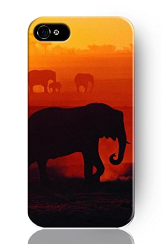 Sprawl New Fashion Design Hard Skin Case Cover Shell For Mobilephone Apple Iphone 4 4S 4G Dazzy Elephant Background front-1033618