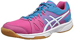 ASICS Women\'s Gel-Upcourt Tennis Shoe,Cabernet/White/Riviera Blue,9.5 M US