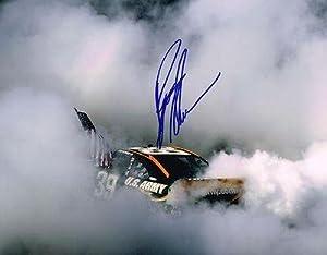 Signed Newman Picture - BURNOUT 11X14 COA - Autographed NASCAR Photos by Sports Memorabilia