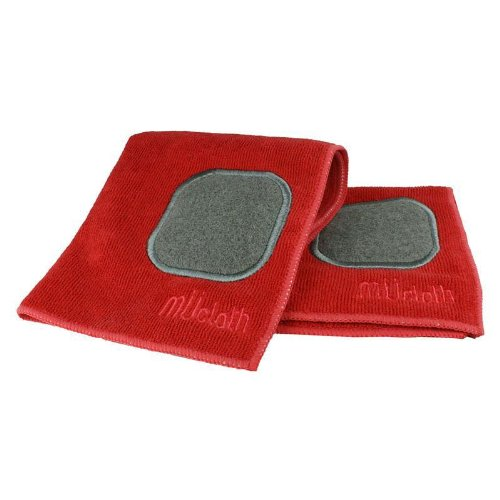 MU Kitchen Dish Cloth with Scrubber Pad, Red