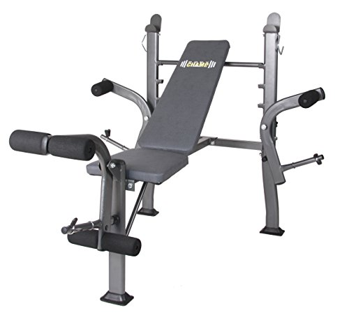 Body Champ Standard Weight Bench with Butterfly, Dark Gray/Black