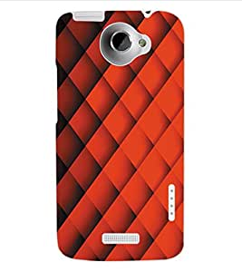 ColourCraft Pattern Design Back Case Cover for HTC ONE X