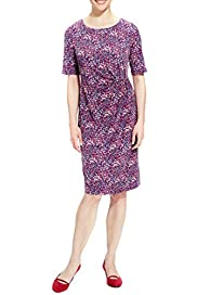 Abstract Print Shift Dress [T58-7281-S]