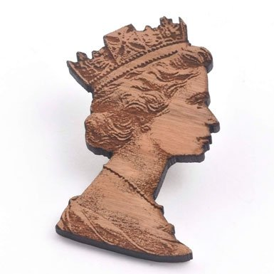 Queen Brooch by Anita Gohil