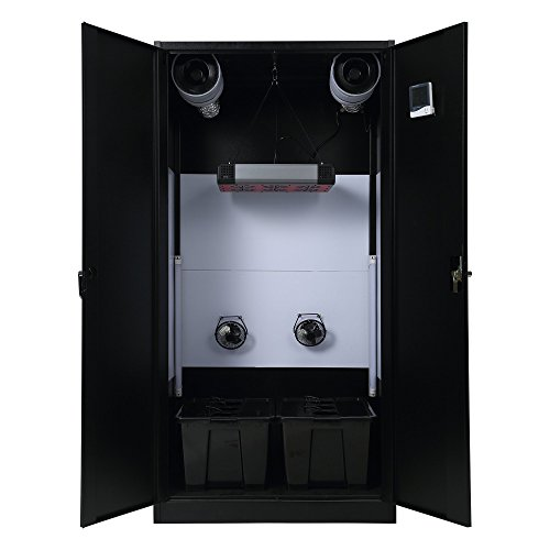 LED Hydroponic Large Cabinet Garden Grow Box Grow Cabinet (Stealth Grow Cabinet compare prices)