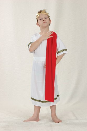 Kids Roman Emperor Fancy Dress Costume Outfit Large