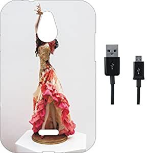 BKDT Marketing Printed Soft Back Cover Combo for Infocus M2 With Charging Cable