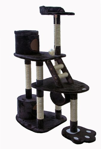 Go Pet Club 59-Inch Cat Tree, Dark Grey