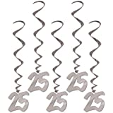 25th Anniversary Whirls Party Accessory (1 count) (5/Pkg)