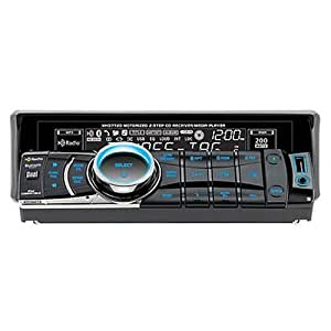 Dual XHD7720 In-Dash CD/MP3/WMA Player with Motorized Face, Remote, Built-in HD Radio Tuner, iTunes Tagging, iPod Cable, and 3.5mm Aux Input
