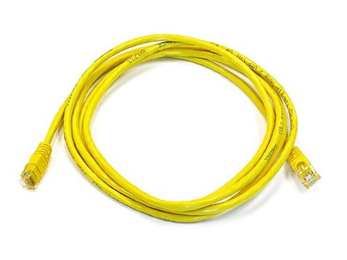 Monoprice 7-Feet 24AWG Cat5e 350MHz UTP Bare Copper Ethernet Network Cable, Yellow (102142)