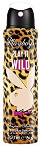 Playboy Play It Wild women Deo Body Spray, 1er Pack (1 x 150 ml)