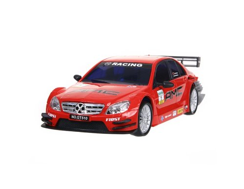 KAI DENG GT-510 1:18 4 Wheels Rechargeable Remote Control Drift RC Racing Car with Light (Red)