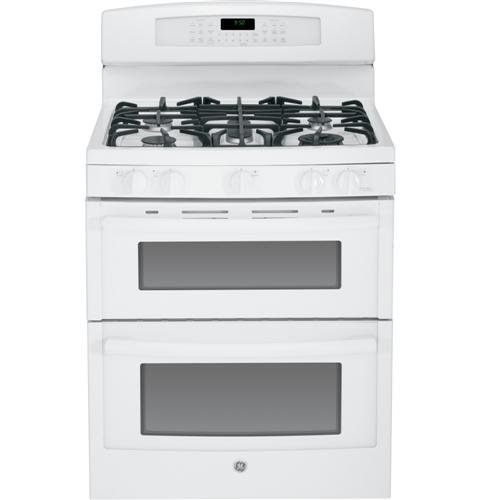 "Ge Pgb950Defww Profile 30"" White Gas Sealed Burner Double Oven Range - Convection"
