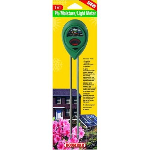Bosmere K177 3-In-1 PH Moisture and Light Meter
