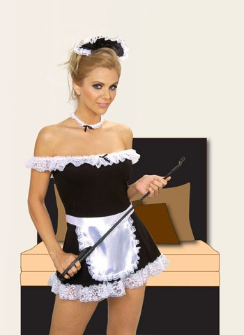 4pc Sexy Maid Costume Set - Size: S/M