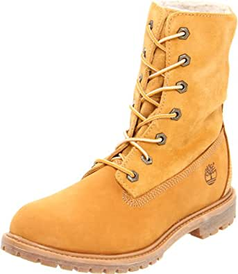 Timberland Women's Authentics Fleece Boot,Wheat,5.5 M US