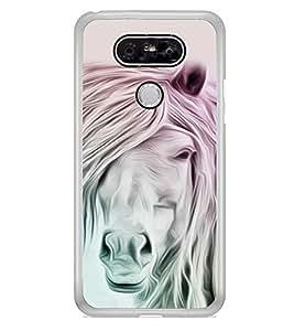 White Horse 2D Hard Polycarbonate Designer Back Case Cover for LG G5 :: LG G5 Dual H860N :: LG G5 Speed H858 H850 VS987 H820 LS992 H830 US992