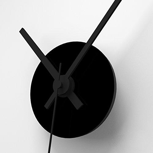 Wandkings Wanduhr SOLO CLOCK mit Uhrwerk & Uhrzeigern (Farbe: Uhr=Schwarz, Zeiger=Schwarz)